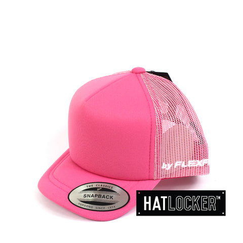 Flexfit High Crown Pink Toddler Trucker Hat