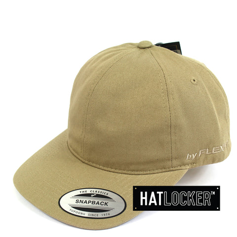 Flexfit Khaki SV Dad Hat Snapback Cap Side