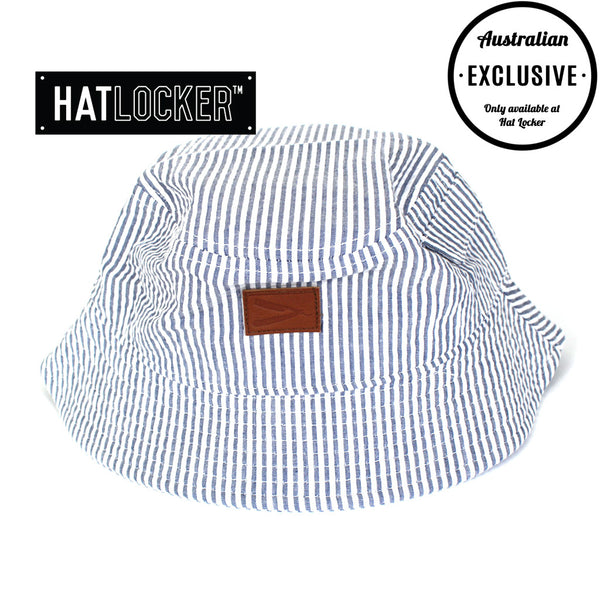 Frank's Chop Shop - Seersucker Leather Razor Bucket Hat