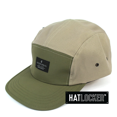 Kooringal Pizzey Mens Khaki 5 Panel Cap