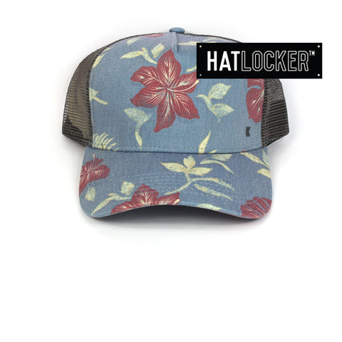 Kooringal Tropical Mens Blue Trucker Cap Australia