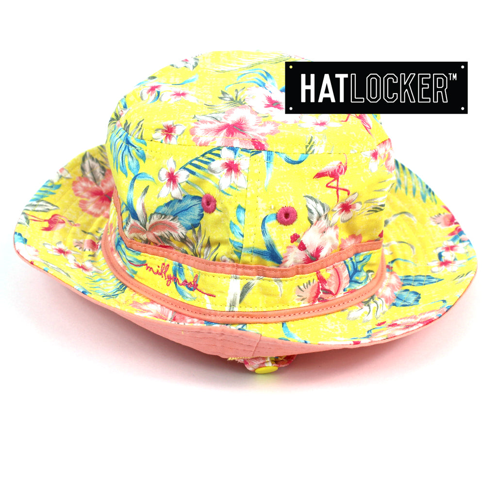 Millymook Amelia Kids Yellow Bucket Hat Australia