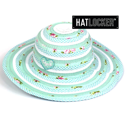 Millymook Sweetheart Mint Kids Floppy Hat Australia