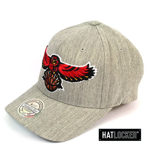 Mitchell and Ness Atlanta Hawks HWC Heather Curved Snapback Cap