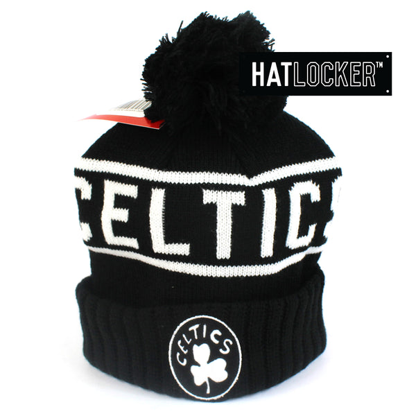Mitchell & Ness Boston Celtics High 5 Bobble Knit Beanie