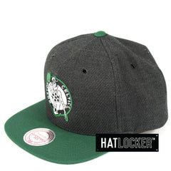 Mitchell & Ness Boston Celtics Woven Reflective Snapback Cap