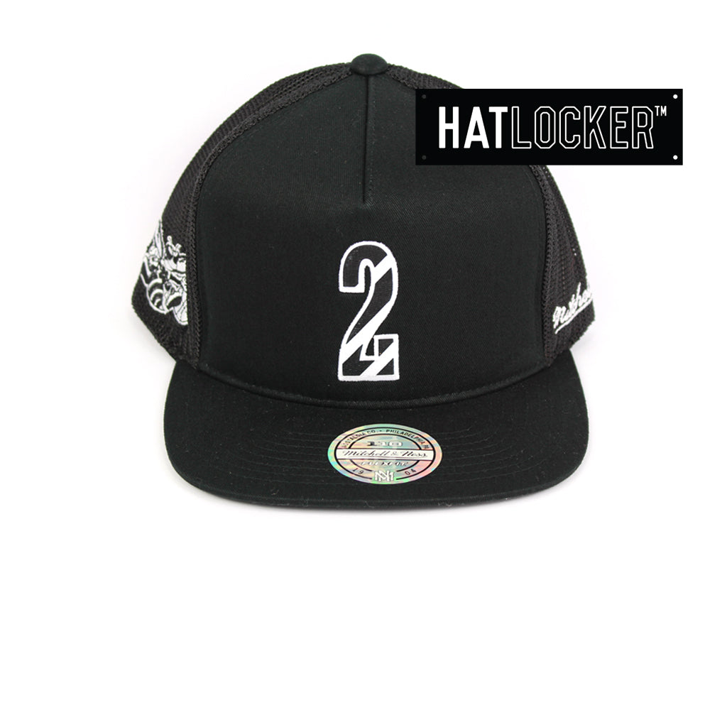 7a8cc4bc120 Mitchell   Ness Charlotte Hornets Name   Number Snapback Hat