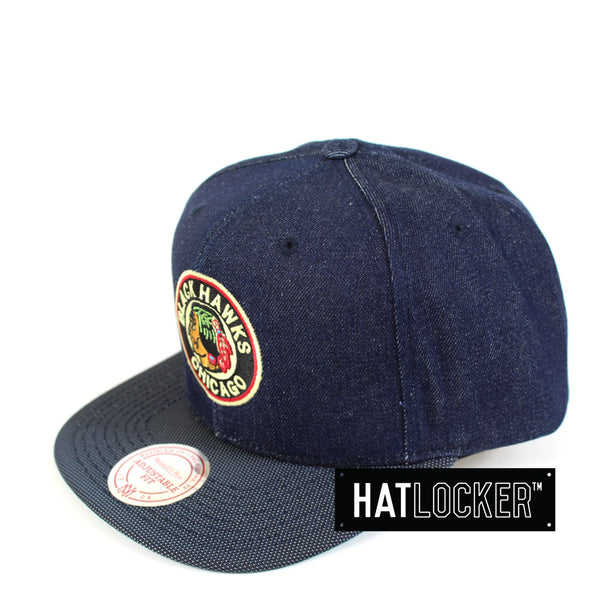 Mitchell & Ness - Chicago Blackhawks Raw Denim 3T PU Snapback