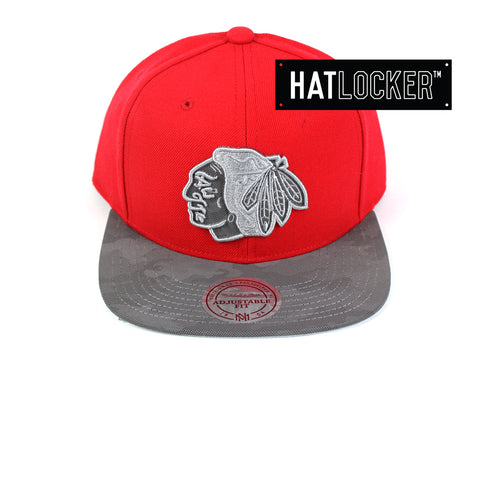 Mitchell & Ness - Chicago Blackhawks Reflective Camo Snapback