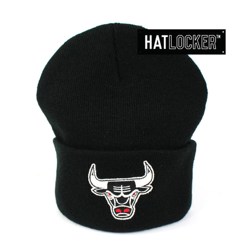 Mitchell & Ness Chicago Bulls Black Cuff Knit Beanie
