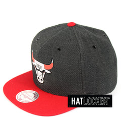 Mitchell & Ness Chicago Bulls Woven Reflective Snapback Hat
