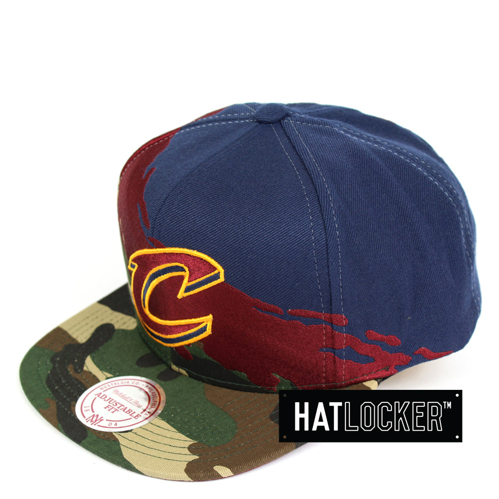 Mitchell & Ness Cleveland Cavaliers Camo Paintbrush Snapback Cap