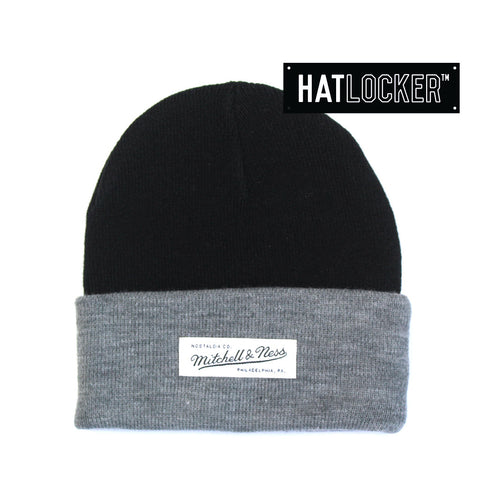 Mitchell & Ness - Cuff Black Grey Beanie