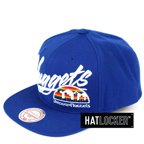 Mitchell & Ness Denver Nuggets Vice Script Snapback Hat
