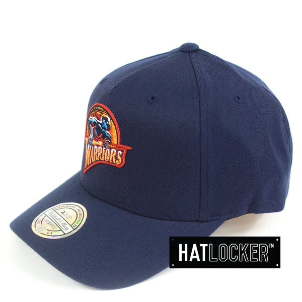 Mitchell & Ness Golden State Warriors 110 Retro Team Curved Snapback Hat