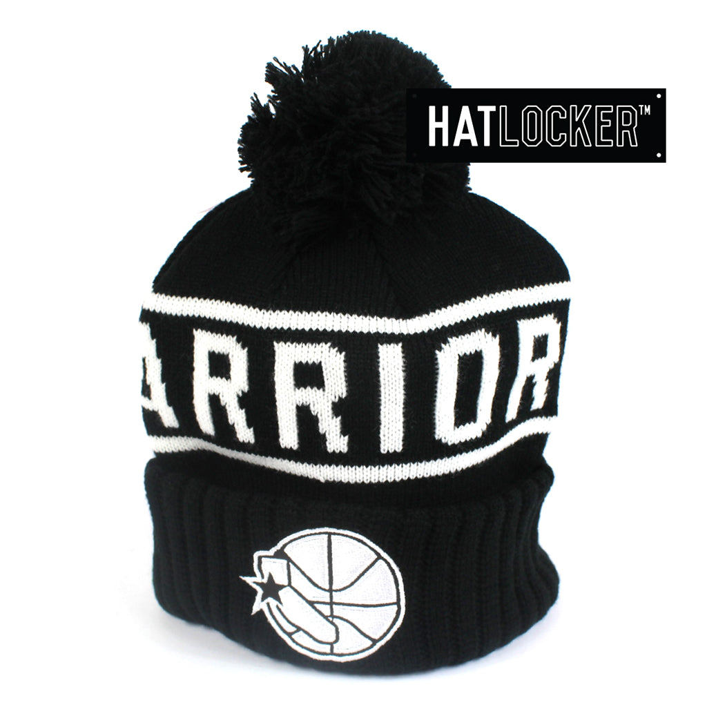 bcda7107575 Mitchell   Ness Golden State Warriors High 5 Bobble Knit Beanie
