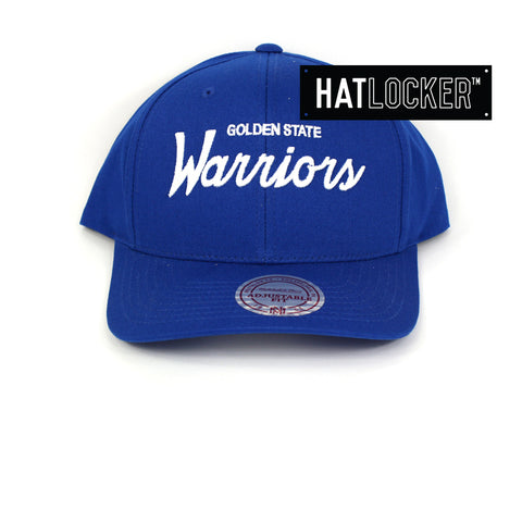 6a851dae7e1 ... discount code for mitchell ness golden state warriors basic script  curved snapback ee935 e720f