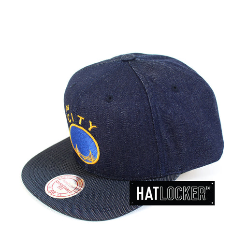 Mitchell & Ness - Golden State Warriors Raw Denim 3T PU Snapback