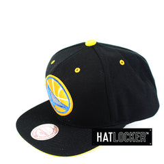 Mitchell & Ness - Golden State Warriors Solid Velour Logo Snapback