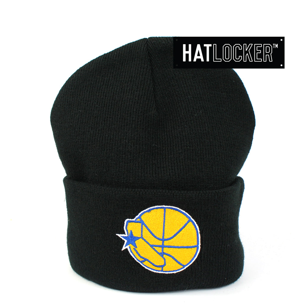 Mitchell & Ness Golden State Warriors Black Cuff Knit Beanie