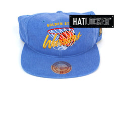 Mitchell & Ness Golden State Warriors 110 Pinch Panel Curved VSnapback Hat