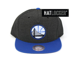 Mitchell & Ness Golden State Warriors Woven Reflective Snapback Hat