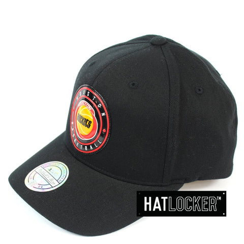 Mitchell and Ness Houston Rockets Circle Weald Patch 110 Curved Snapback Cap