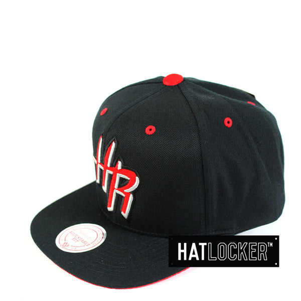 Mitchell & Ness - Houston Rockets Solid Velour Logo Snapback