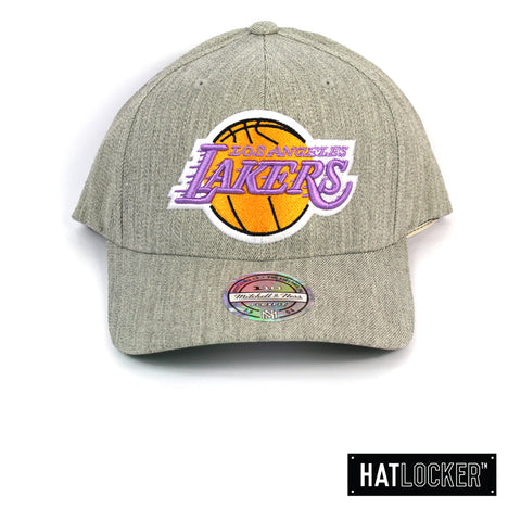 Mitchell & Ness - LA Lakers HWC Heather Curved Snapback