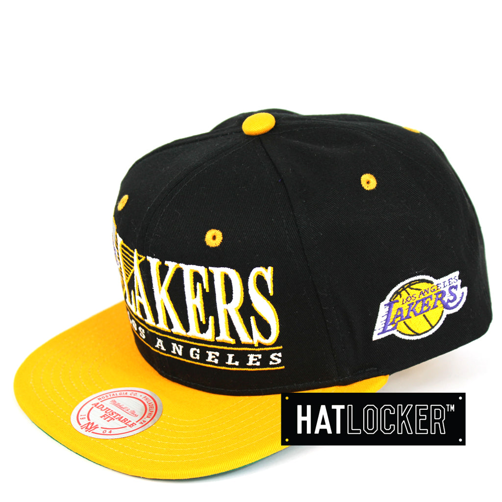 42c06535233734 Mitchell & Ness | NBA Los Angeles Lakers Horizon Snapback – Hat Locker