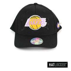 Mitchell and Ness LA Lakers Nostalgia Black Curved Snapback Cap