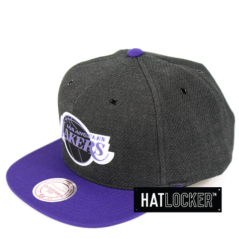 Mitchell & Ness LA Lakers Woven Reflective Snapback Hat