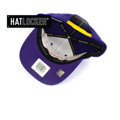 Mitchell & Ness LA Lakers 110 Retro Team Curved Snapback Hat
