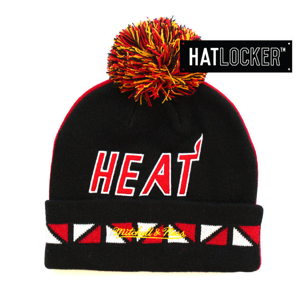 Mitchell & Ness - Miami Heat 2 Faced Cuff Knit Beanie