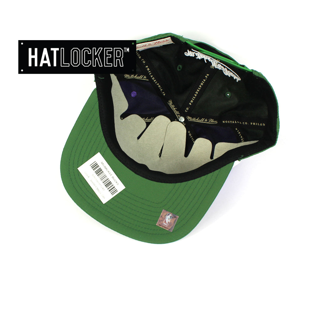 Mitchell & Ness Milwaukee Bucks Anorak Snapback Hat