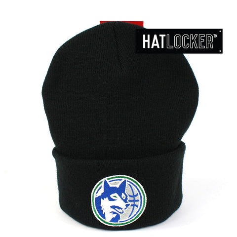 Mitchell & Ness Minnesota Timberwolves Black Cuff Knit Beanie