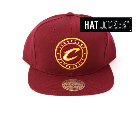 Mitchell & Ness - Cleveland Cavaliers Twill Circle Patch Snapback