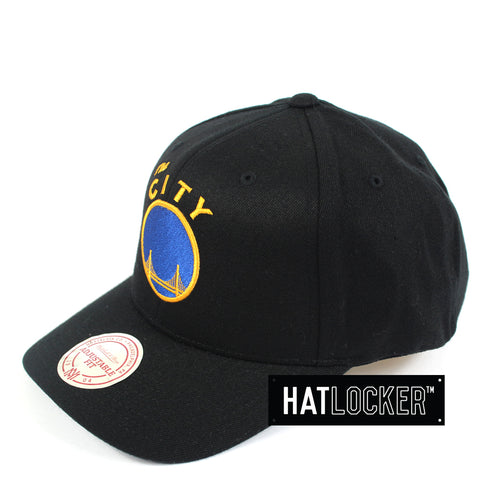 Mitchell & Ness - Golden State Warriors HWC Logo Curved Snapback