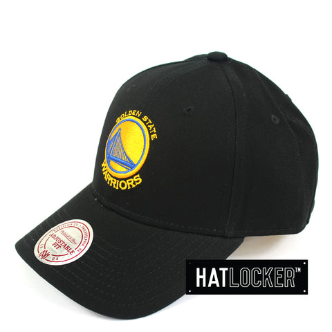 Mitchell And Ness Golden State Warriors Low Pro Curved Snapback Hat