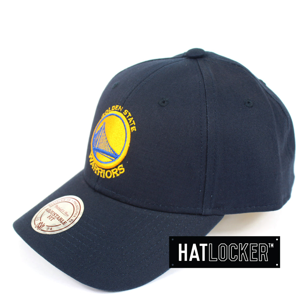 info for 9a712 b7036 Mitchell And Ness Golden State Warriors Navy Low Pro Curved Snapback Cap