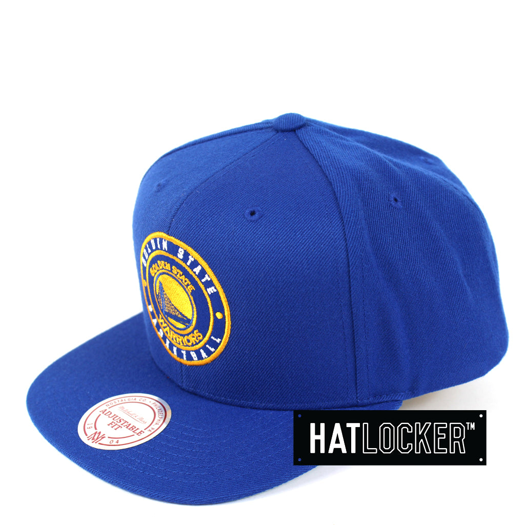 Mitchell & Ness - Golden State Warriors Twill Circle Patch Snapback