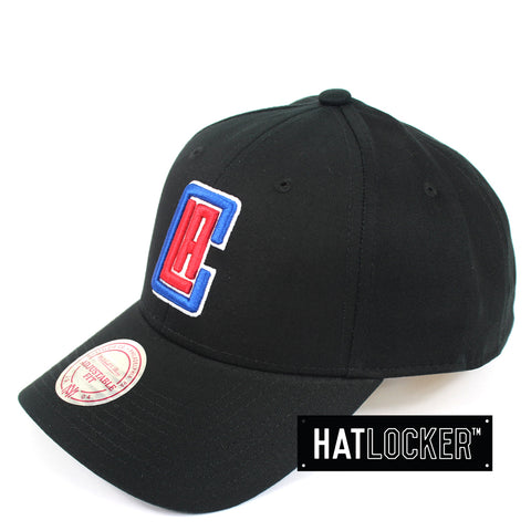 Mitchell And Ness LA Clippers Low Pro Curved Snapback Hat