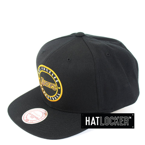 Mitchell & Ness - LA Lakers Twill Circle Patch Snapback