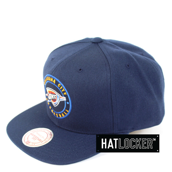 Mitchell & Ness - Oklahoma City Thunder Twill Circle Patch Snapback
