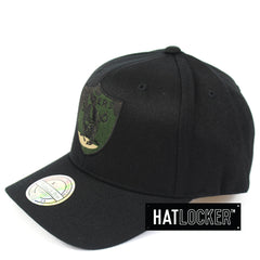 Mitchell & Ness Oakland Raiders Black Camo Infill Curved Snapback