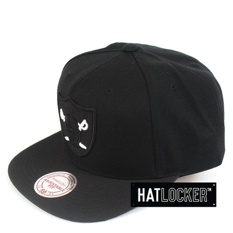 Mitchell & Ness Oakland Raiders Black Kevlar Snapback Hat