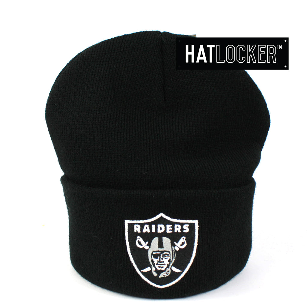 Mitchell & Ness Oakland Raiders Black Cuff Knit Beanie