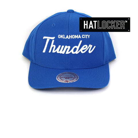 Mitchell & Ness Oklahoma City Thunder Basic Script Curved Snapback