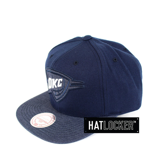 Mitchell & Ness - Oklahoma City Thunder Heather 2 Tone Snapback