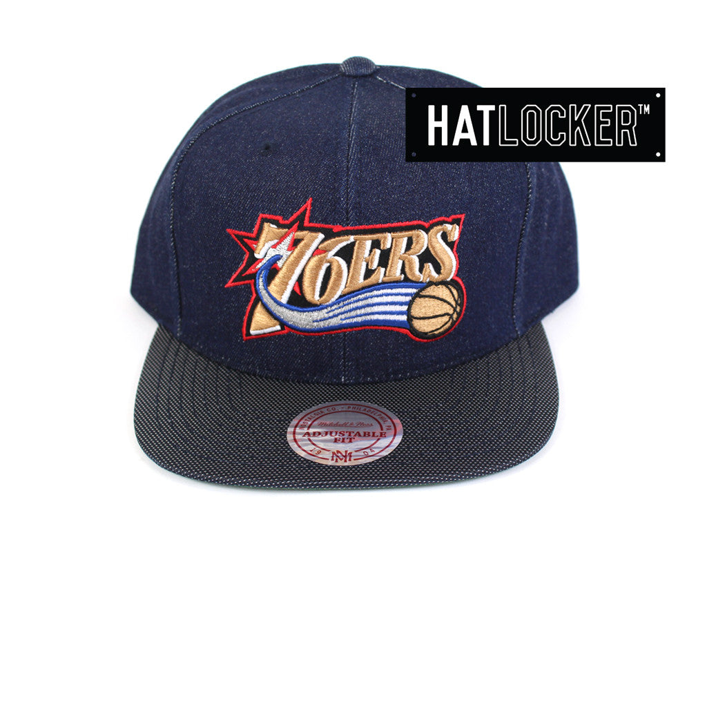 Mitchell & Ness - Philadelphia 76ers Raw Denim 3T PU Snapback